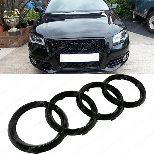 mck-auto-273x93mm-car-black-glossy-front-grille-badge-rings-logo-for-audi-a1-a3-a4-a5-a6-ha6l