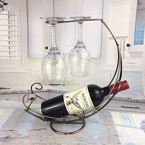 WDDP Dekoration,Red Wine Rack Retro Piratenschiff Weinkelch Frame Creative Home Dekoration (ohne Glas)