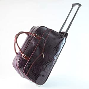 Suitcase Hand Baggage - Luggage with Wheels / Trolley - Purple