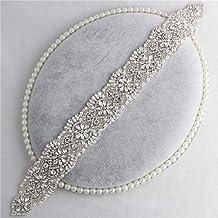 Crystal Rhinestone Apliques, Apliques de Novia de la Boda Handmade Deslumbrante Elegante Ligero Utilizado por
