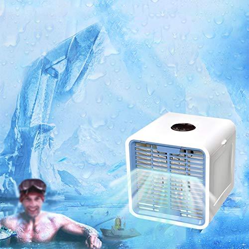 ZHENHAO 3-in-1-klimagerät, Mini-luftkühler, Mobile Klimaanlage, Luftkühler, 7 Led-lichtkonvertierungsmodi, Led-Bildschirm Stilles Timing (wasserkapazität: 600ml) - Heiß-wasser-filter-bildschirme