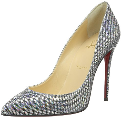 christian-louboutin-damen-calzature-pigalle-follies-100-shoes-pumps-silber-multi-36-eu