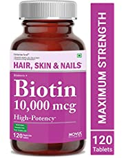 Carbamide Forte High Potency Biotin 10000mcg Maximum Strength for Hair Growth – 120 Veg Tablets