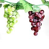 réaliste artificiel raisins Plastique Faux Fruits Maison Fête de mariage Décor de jardin Mini Simulation Fruits Légumes, Lot de 2