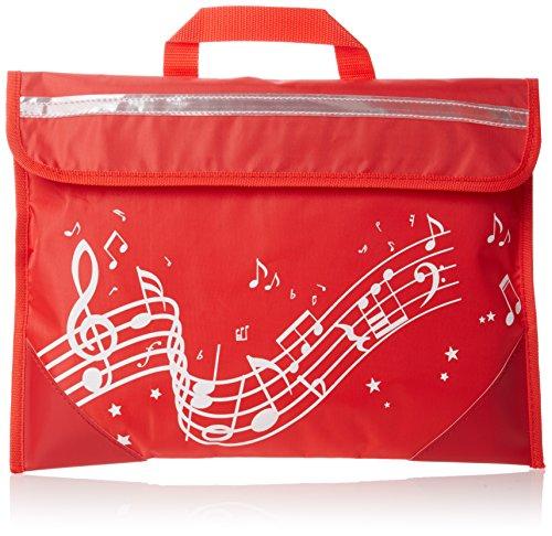 Musicwear Gewellt Notenlinien Musikinstrument Ordentliche Musik Leicht Zu Öffnendes Klettverschluss-tasche Musiker - Rosa rot