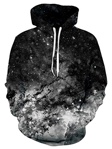 AIDEAONE Herren Sportwear Kapuzenpullover Grafik Hoodie Pullover Leichte Sweatshirts Taschen mit Fleecefutter Plüsch Schwarz