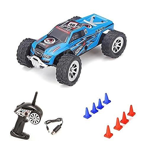 High Speed 2WD Off-Road 1/24 Maßstab mini RC ferngesteuertes Monstertruck Buggy 2.4GHz Digital Steuerung Top-Speed bis zu 25 km/h, Komplett-Set (Super-racing Seat)
