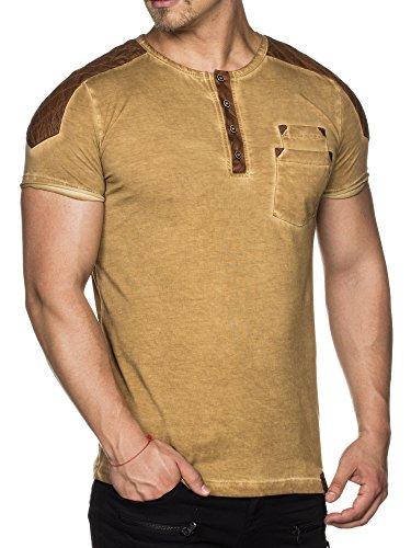 ... TAZZIO T-Shirt mit Kunstleder-Patch 15136 Camel ...