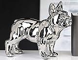 Casablanca - Skulptur, Figur - Bulldogge - Bulli - Silber - Höhe: 29 cm - Keramik