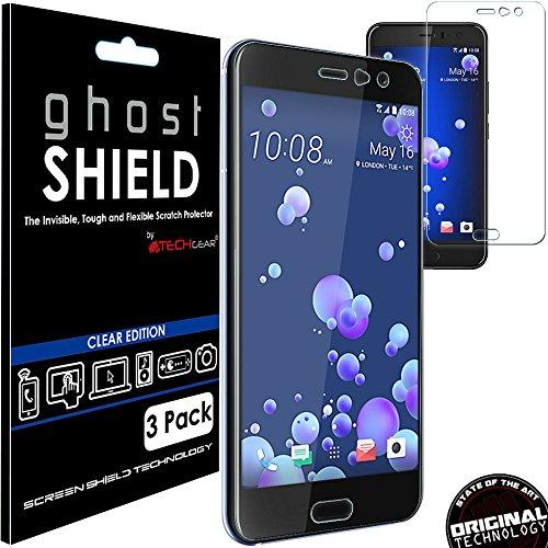 [confezione da 3] Techgear® HTC U11[Ghostshield Edition] Genuine rinforzato TPU proteggischermo copre con schermo intero copertura con schermo curvo superficie [3D curvo protezione bordi]
