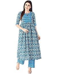 KHUSHAL Women's Cotton Kurta With Palazo