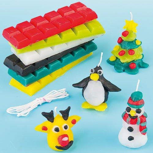 Weihnachtskerzen zum Selbermachen für Kinder zum Basteln (Pro Packung)
