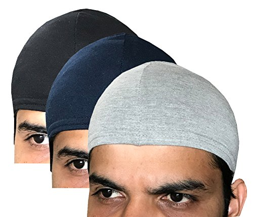 Elk 100% Cotton Men Women Kids Helmet Cap Skull Cap cycling Sports cap Sweat and dust Absorbing Hygiene wear Covers ears 3 Colours  available at amazon for Rs.69