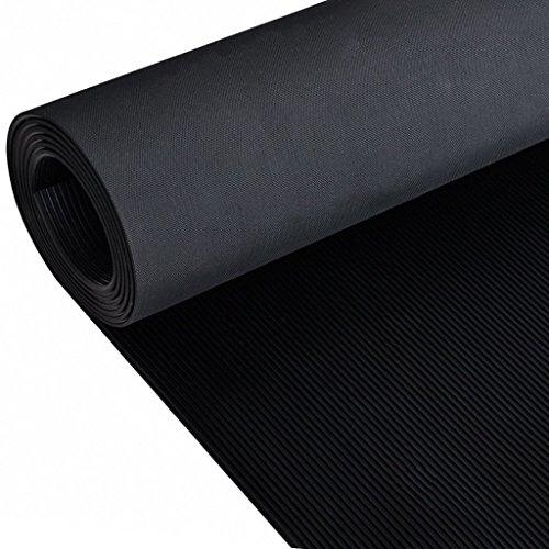 vidaXL Bodenschutzmatte Gummi Fußmatte Bodenmatte Antirutschmatte Bautenschutz