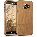 kwmobile Coque en bois véritable pour Samsung Galaxy A3 (2016) en bois de cerisier marron clair