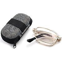 Compact size anti fatica sereno Eyewear pieghevole pieghevole lettura occhiali + 3.00& Pocket zipper box