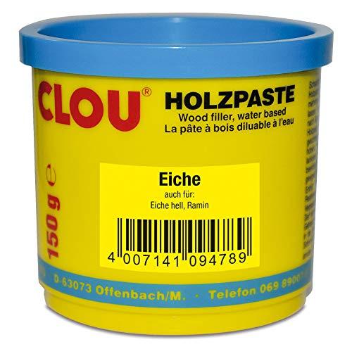 Clou Holzpaste zum Reparieren und Auskitten von Holzschäden eiche, 150 g: gebrauchsfertige Paste geeignet für den gesamten Innenbereich -