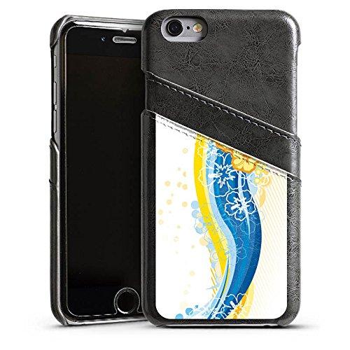 Apple iPhone 4 Housse Étui Silicone Coque Protection Fleurs Fleurs Printemps Étui en cuir gris