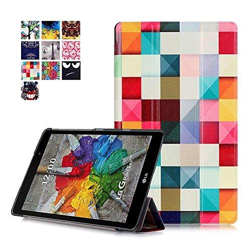 Funda G Pad X 8.0 Cuero,Ultra Delgado Ligero PU Cuero Smart Case Cover Funda de Cuero Piel con Soporte para el Tablet 8''LG G Pad X 8.0 V521WG/LG G Pad 3 8.0 V525 Funda Carcasa con Soporte funtion