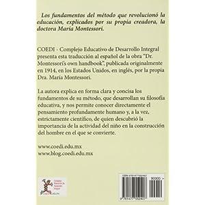 """El manual personal de la doctora Montessori: Traducción de """"Dr. Montessori's ow"""