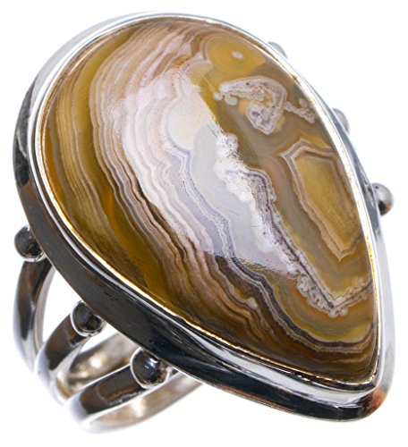 925er Sterling Silber Crazy Lace Agate Einzigartig Handgefertigt Ringe 18 Crazy Lace Agate X2755 - Kitty Teen Hello