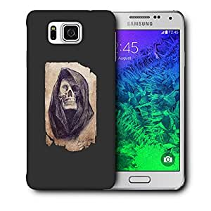 Snoogg Skeleton Of Lady Designer Protective Back Case Cover For Samsung Galaxy Alpha