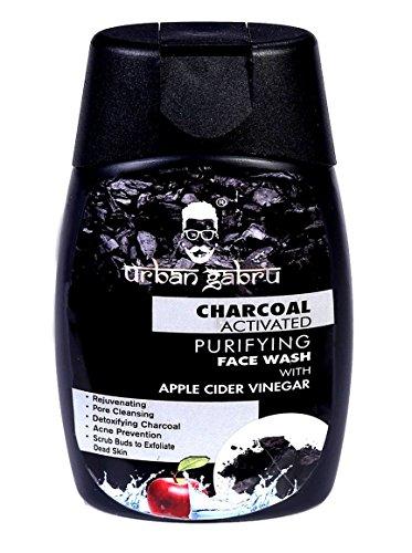 UrbanGabru Charcoal Face Wash With Apple Cider Vinegar For Pimple/Acne Control and Clear Glowing Skin, 120 g