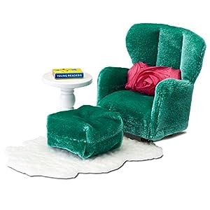 Lundby 60.2093.00 - sillón y reposapiés, Mini muñeca con Accesorios