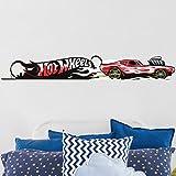 Bilderwelten Wandtattoo Hot Wheels Red Fire, Sticker Wandtattoo Wandsticker Wandbild, Größe: 20cm x 120cm