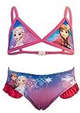 Disney Frozen - Costume 2 Pezzi Bikini con Volant Full Print Mare Piscina - Bambina - Novità Prodotto Originale 874-019 [Rosa - 3 anni - 98 cm]