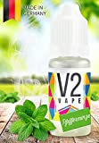 V2 Vape E-Liquid Pfefferminz - Luxury Liquid für E-Zigarette und E-Shisha Made in Germany aus natürlichen Zutaten 50ml 0mg nikotinfrei