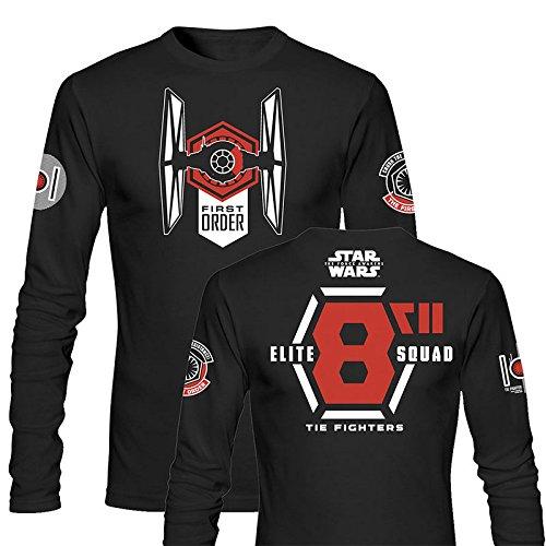 SD toys - T-Shirt - Star Wars Episode 7- Homme Elite Squad Noir Manche Longue Taille M - 8436546899273