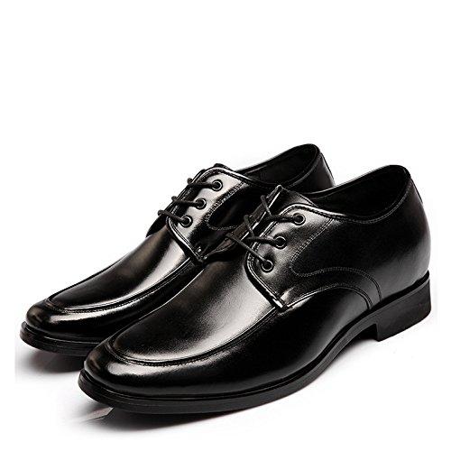 WZG Inghilterra scarpe ascensore invernali scarpe ascensore laccio di cuoio per uomo dentro gli uomini aumentato dello stealth aumentato nei scarpe business casual scarpe nere , black , 39