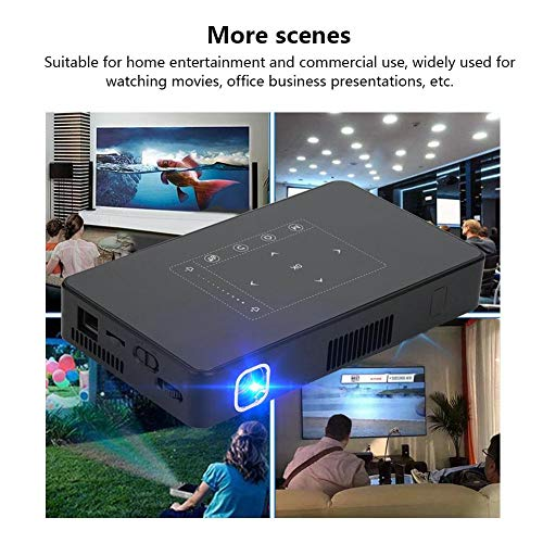 VBESTLIFE Wireless Video Projector  1080p HD Home Cinema Projector Smart Video DLP Projector Support Android 6 0 Bluetooth HDMI USB TF Card for Home Cinema Theater uk plug