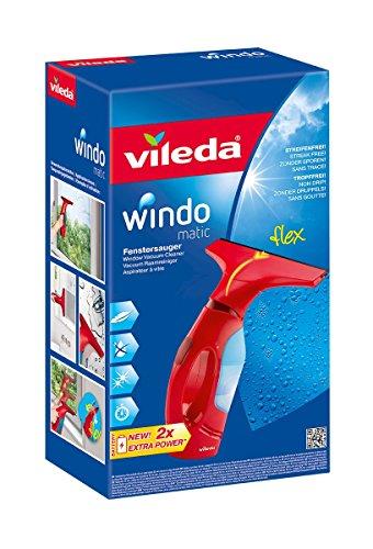 Vileda Windomatic Fenstersauger mit flexiblem Kopf für streifenfreie Fenster - 2