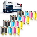 20x Kompatible Tintenpatronen für Epson Stylus Office BX935 FWD Stylus SX 230 Stylus SX 235 W Stylus SX235 W T 1291 T 1292 T 1293 T 1294 Schwarz Cyan Magenta Yellow - Premium Color Serie