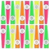 THE TWIDDLERS Set mit 12 Kazoo (Kunststoff Kasu Pfeife) - 4 Set Kinder Kleine Geburtstag Party Favor & Giveaways - Kids Pinata Spielzeug, Teile Werbegeschenk, Verlosungen, Preise & mehr