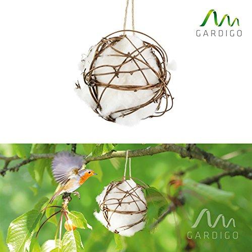 Gardigo Vogelnest-Watte, für den Nestbau und Einrichtung des Vogelhaus, Baumwolle