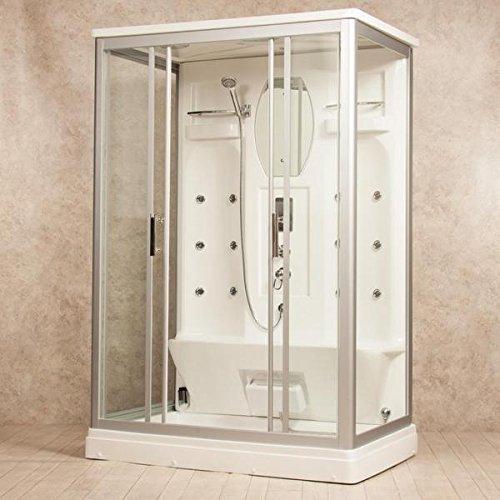 Cabina idromassaggio 140x90 box doccia 12 idrogetti disponibile anche con bagno turco I