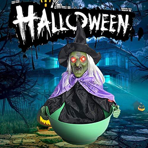 Kostüm Kind Gargoyle - MA87 Halloween-Dekorationen Grim animierte Trick Candy Holder Container Schalen Dish (Grün)