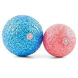 Massageball Set inkl. Anleitung - Zwei Faszien-Bälle mit 8cm & 10cm Durchmesser - für punktuelle Triggerpunkt-Therapie und Selbstmassage von Muskeln und Bindegewebe - von enducore
