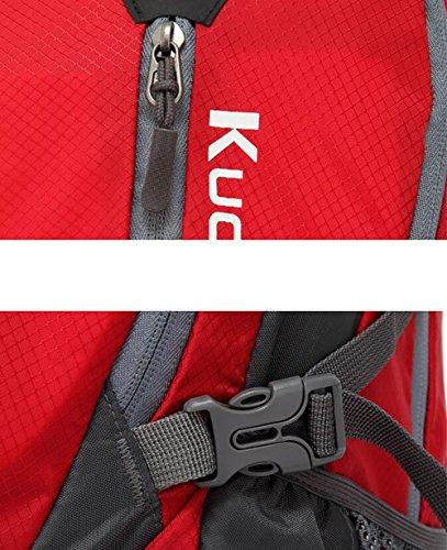 HWLXBB Outdoor Bergsteigen Tasche Männlich und weiblich 45L Wasserdichte Mehrzweck-Bergsteigen Tasche Wandern Camping Bergsteigen Rucksack 3*