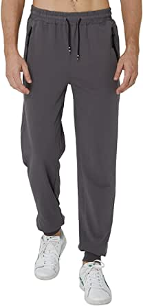 Idgreatim Pantaloni da Jogging da Uomo Pantaloni da Tuta Pantaloni Sportivi Aderenti da Palestra Abbigliamento Sportivo da Palestra Tasche con Zip in Vita Elastica Pantaloni