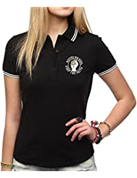 Northern Soul Keep The Faith Embroidered Polo Shirt Women's Fit Fashion Quality Heavyweight T-Shirt.