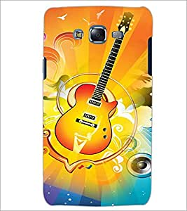 PrintDhaba Guitar D-3596 Back Case Cover for SAMSUNG GALAXY ON 7 (Multi-Coloured)