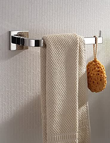 QMM bathroom accessories,Towel Bar / Toilet Paper Holder Stainless Steel Wall Mounted 265 x 50 x 50mm (10.43 x 1.97 x 1.97 Stainless Steel