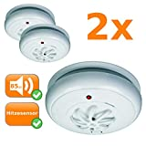 bewährter Hitzemelder - Thermomelder - Wärmemelder für Wohn- EDV & Maschinenraum etc. (2er Set)