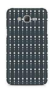 Amez designer printed 3d premium high quality back case cover for Samsung Galaxy J7 (Black n White Pattern2)