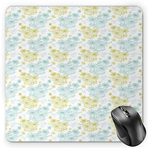 ortrait with Santa Hat Christmas Imagery Fun Illustration on Blue Background Gaming Mousepad Office Mouse Mat Blue Ruby Grey ()