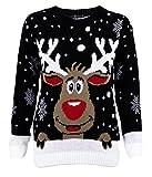 1klickglobal damen jumper rudolph the red nosed reindeer rudolph black medium synthetisch
